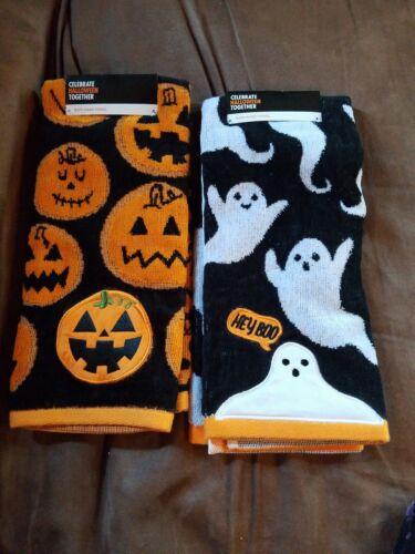 Bath Hand Towel New 16in W X 25 in L NEW 2 Halloween hand towel Ghost Pumpkin