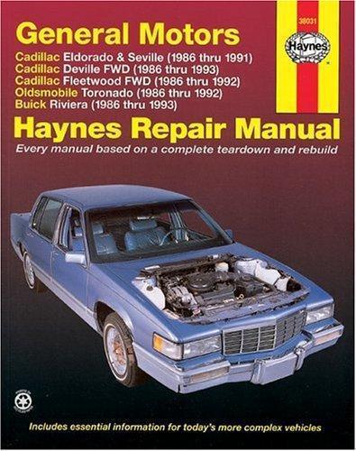 Haynes General Motors  Cadillac Eldorado  Seville  Deville  Buick Riviera And