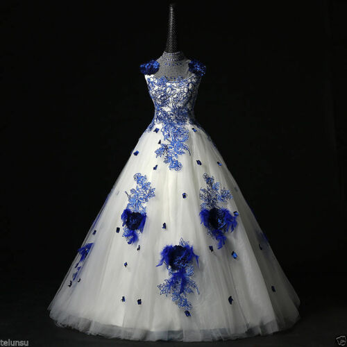 Lace Applique Quinceanera Dress Evening Gown Pageant Formal Prom Party Dresses