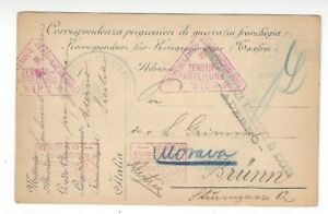 1917-Italy-WWI-POW-Postal-Card-Aderno-Censor-to-Brunn-Austria-Germany