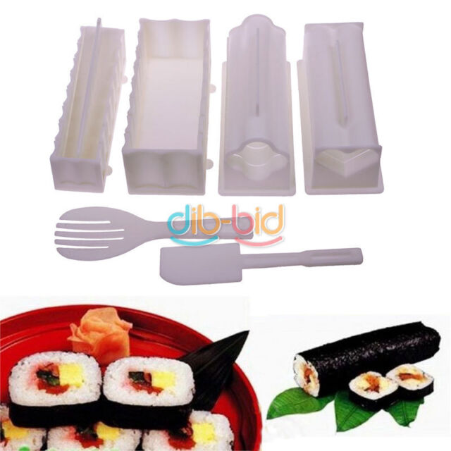10Pcs Practical Home Kitchen Dinner Healthy Sushi Maker Kit Rice Mold Making OCA