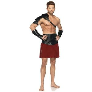 Image is loading Gladiator-Costume-Men-Adult-Greek-Warrior-Roman-Spartan-  sc 1 st  eBay & Gladiator Costume Men Adult Greek Warrior Roman Spartan Halloween ...