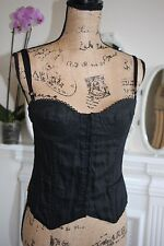 BNWT Gianfranco Ferre Black Corset Bustier Top 8 10 Small RRP £215 -65% off!