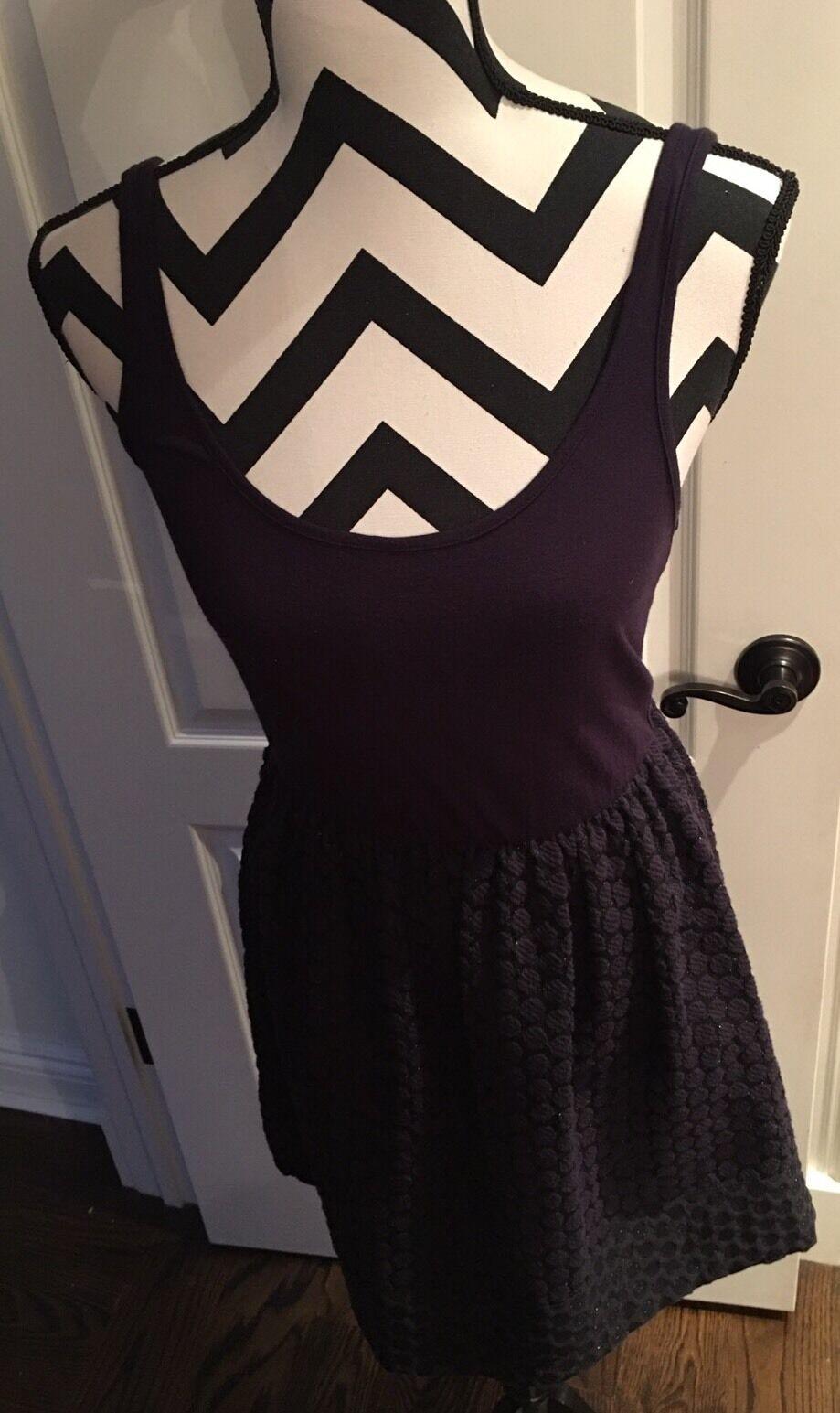 Women's Junior Navy Designer Eight Sixty Stretch Bubble Dress Size Large