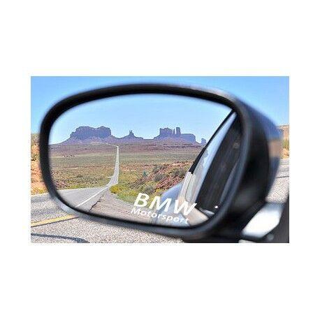 Autocollant Sticker retroviseurs logo BMW blanc
