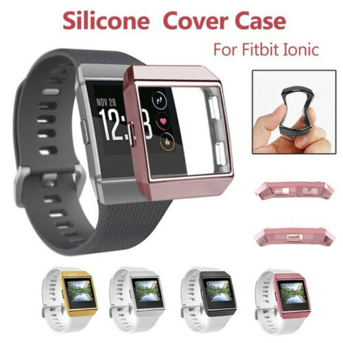 Ultrathin Soft TPU Full Cover Clear Screen protector Case Skin For Fitbit ionic#