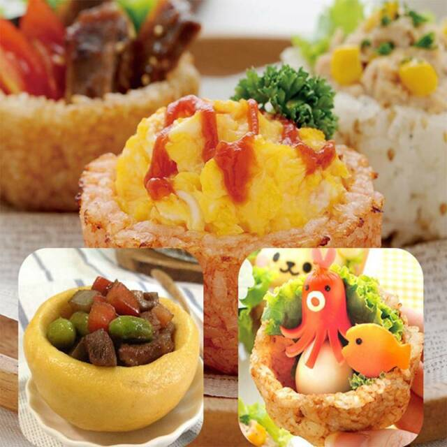 Round Shape Sushi Mold Diy Rice Ball Press Mould Bento Maker Sushi Tool Plastic