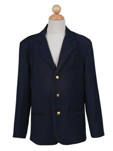 New Navy Blue Boys Blazer Casual Sport Suit Jacket Wedding Graduation Kids Party