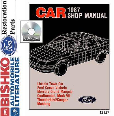 Thunderbird Cougar Shop Service Repair Manual CD 1983 Ford Mustang