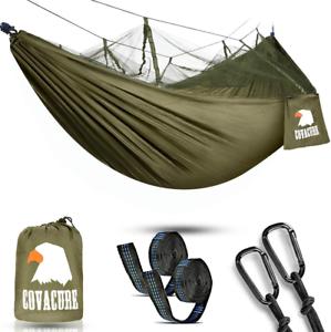 Camping-Hamaca-Con-Red-Hamaca-Doble-Ligera-Hamaca-Portatil