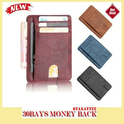 Men/'s Slim Mini Wallet ID Credit Card Holder Coin Purse Bag Pouch Gifts G