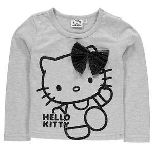 SANRIO-t-shirt-HELLO-KITTY-3-4-ans-gris-manches-longues-NEUF