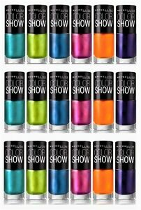 Buy 2 Get 1 FREE<< Maybelline Color Show Nail Polish Lacquer CHOOSE ...