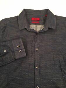 Hugo-Boss-Red-Label-Slim-Fit-Men-039-s-Dress-Casual-Long-Sleeve-Shirt-L-size-Large