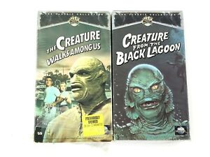 The-Creature-Walks-Among-Us-amp-Creature-From-The-Black-Lagoon-Hi-Fi-VHS-VCR-Tapes