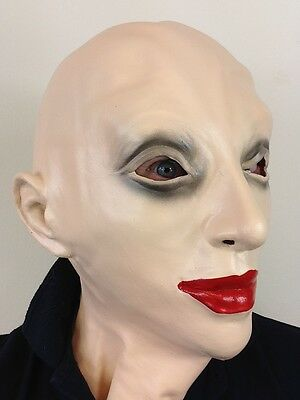 LATEX FEMALE FANCY CROSS DRESS MASK RUBBER DOLL FETISH HEAD WOMAN LADY MASKS