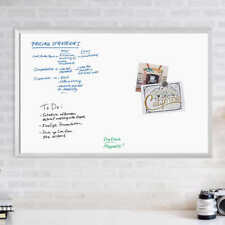 Magnetic Dry Erase Board 36 X 24 Silver Aluminum Frame Wipes Clean Easily