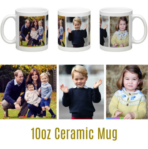 HRH William Catherine Prince George Princess Charlotte Contemporary Ceramic Mug