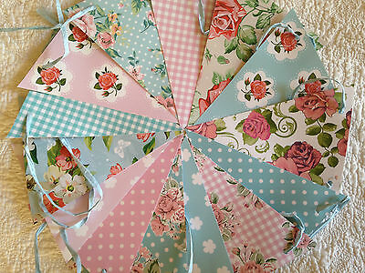 Handmade PVC/ Oilcloth Flag Bunting birthday,tea party,home decoration