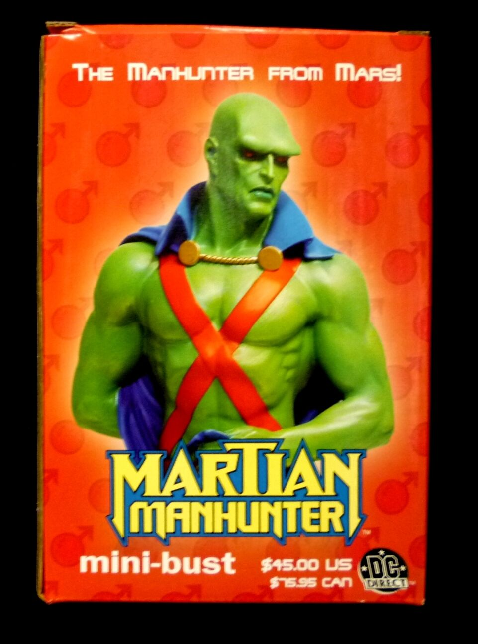 Martian Manhunter Bust Statue New 2003 Factory Sealed DC Comics JLA Amricons .