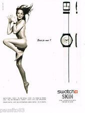 PUBLICITE ADVERTISING 065  1997   la montre SWATCH SKIN