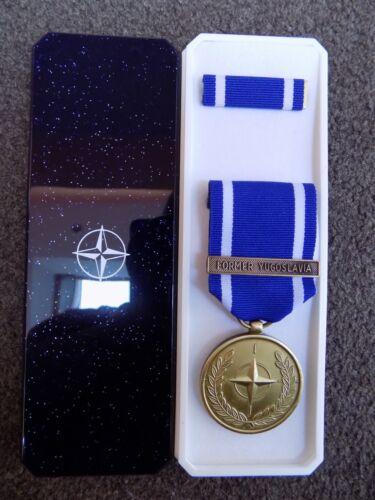 GENUINE NATO MEDAL FOR FORMER YUGOSLAVIA IN NATO BOX OF ISSUE EXCELLENT