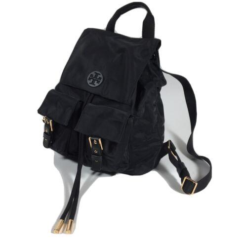 Tory Burch Tilda Nylon Backpack Black Drawstrings