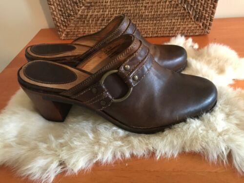 Frye Alyssa Leather Slide Trapunto slides/Clog 9.5