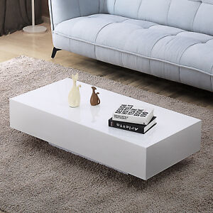 Image Is Loading Modern High Gloss White Coffee Table Living Room