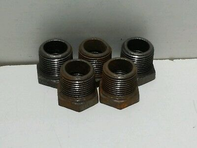 """PIPE NPT P6737 3//4/"""" x 1//2/"""" BLACK MALLEABLE IRON HEX BUSHING REDUCER FITTING"""