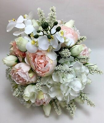 Artificial Flower Pink Cream White Roses Peonies Orchids Wedding
