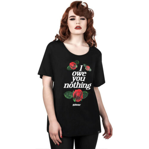 Killstar Gothic Goth Okkult Punk Relaxed Top T-Shirt Oberteil Nothing Rosen
