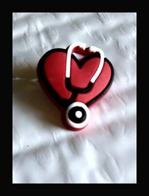 Authentic Jibbitz Nurse Shoe Charm Red