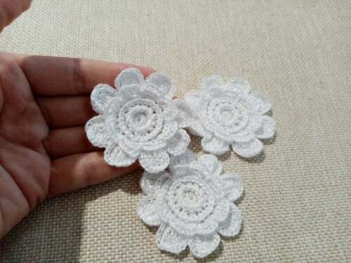 crochet flowers Irish crochet applique Flower motif