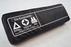 SCHWARZ-TRIO-3in1-Kombitasche-Verbandtasche-Warnweste-Warndreieck-Verbandkasten