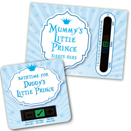 ROOM THERMOMETER BABY BATH /& MUMMY AND DADDYS LITTLE PRINCE SET