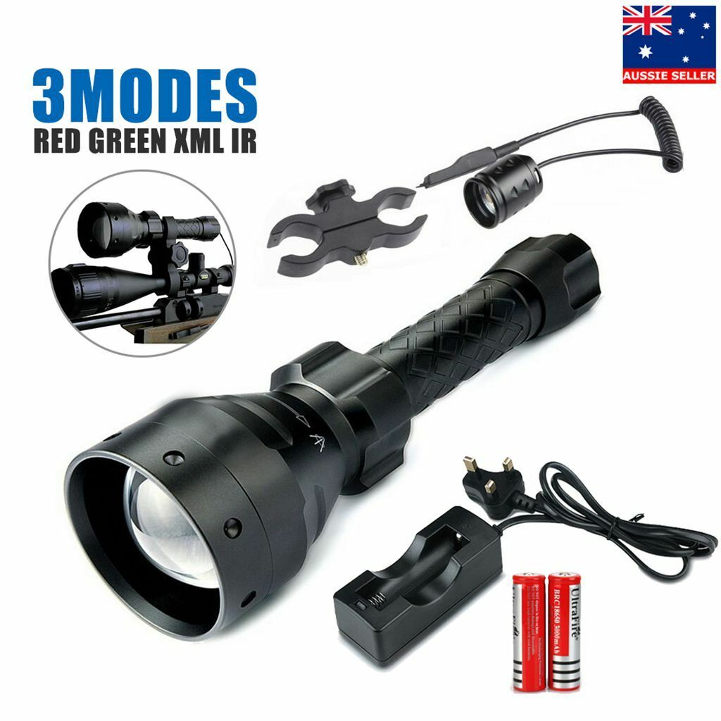 T67 LED hunting light torch lamp NV nightvision red green XMLOSCAR IR850 Battery