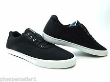PRE-OWNED SUPRA CUTTLER LOW BLACK WHITE MEN SHOES SIZE 10