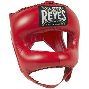 Cleto-Reyes-Traditional-Leather-Boxing-Headgear-with-Nylon-Face-Bar-Red