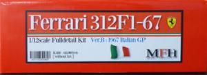 Model Factory Hiro 1 12 Ferrari 312f1-67 Ver.b 1967 Completo Detail Kit K-480