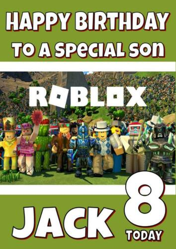 Relation âge ROBLOX Personalised Birthday Card-Tout nom