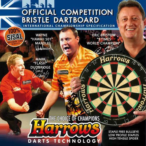 Official Competition Bristle Harrows Dartboard