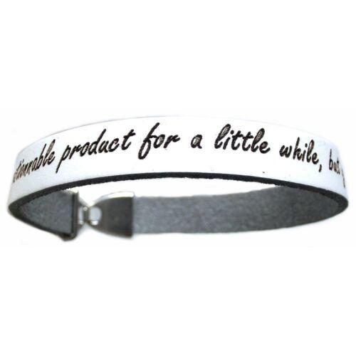 Lieblingsmensch® Gravur Armband Lederarmband 1cm Clipverschluss Weiß