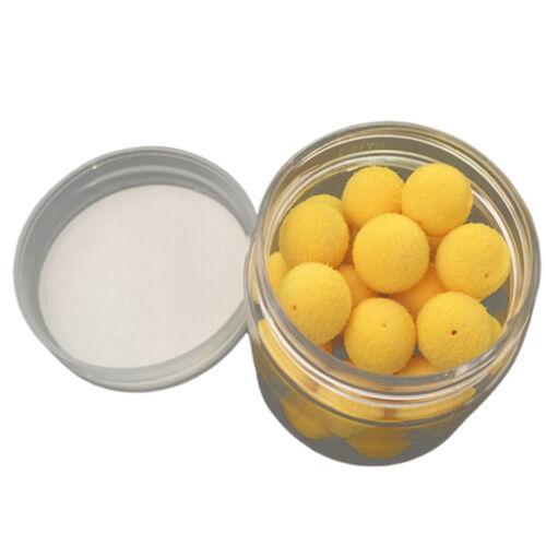 15pcs 8//10//12//14mm Floating Ball Beads Feeder Foam Pop Up Weiche Pellets 1 Box
