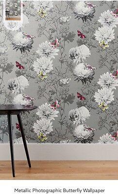 Next Metallic Photographic Butterfly Wallpaper Batch Number 18 New