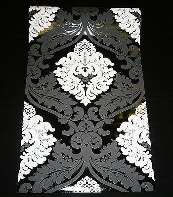 5543-14 1 Rolle Vliestapete FLOCK Barock Ornament Tapete schwarz weiß