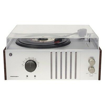 Crosley Player Turntable with USB Connection - Silver/Brown (CR6017B-MA)