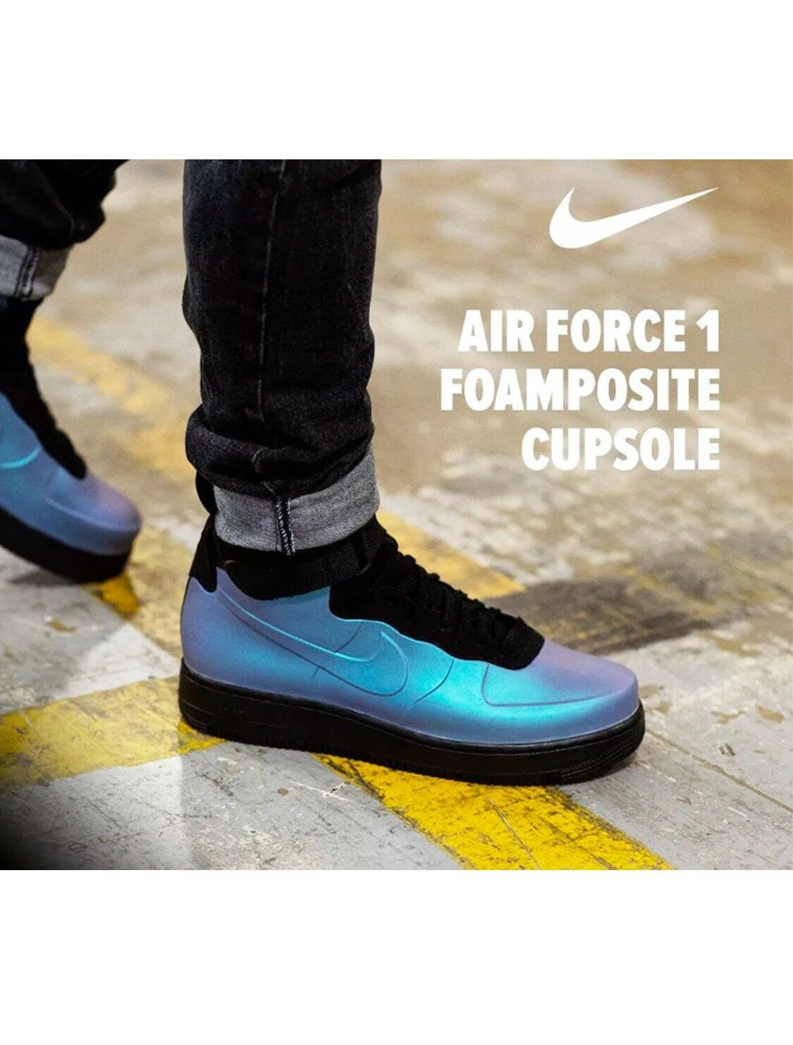 Nike air force 1 - foamposite cup leichtes carbon - multi - 1 farbe ah6771 002 af1  10. 1f49f1