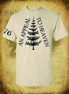 AN-APPEAL-TO-HEAVEN-REVOLUTIONARY-WAR-TREE-FLAG-1776-MILITARY-MEN-039-S-T-SHIRT