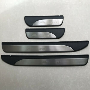 Stainless Steel Door Sill Scuff Plate Protector For HONDA FIT 2014-2017